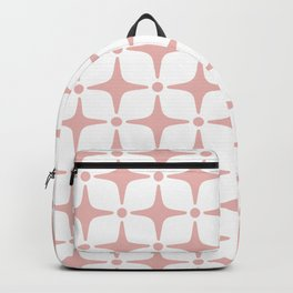 Mid Century Modern Star Pattern Dusty Rose Backpack