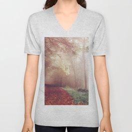 Autumn trees Unisex V-Neck