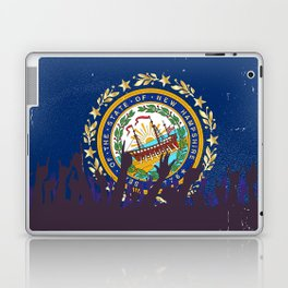 New Hampshire State Flag with Audience Laptop & iPad Skin