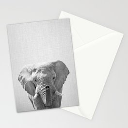 Elephant - Black & White Stationery Cards