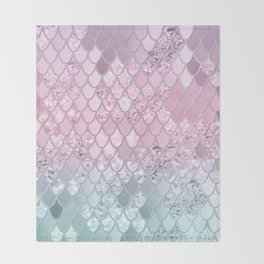 Mermaid Glitter Scales #2 #shiny #decor #art #society6 Throw Blanket