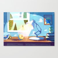 pixar Canvas Prints featuring Pixar by The Fox And King