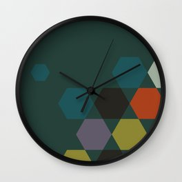 cluster || green night Wall Clock
