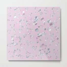 Circles on Pink Metal Print