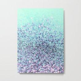 Mermaid Ocean Glitter Glam #2 (Faux Glitter) #shiny #decor #art #society6 Metal Print
