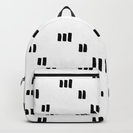 Line Dot Black Paint on Paper Backpack