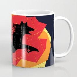 Fire Wolf (Texture) Coffee Mug