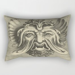 Gargantua - Black and White Beard Rectangular Pillow