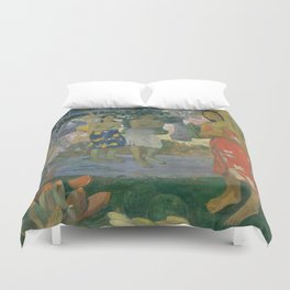 Paul Gauguin - Ia Orana Maria (Hail Mary) (1891) Duvet Cover