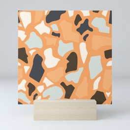 Abstract Terrazzo - Ginger Orange Mini Art Print