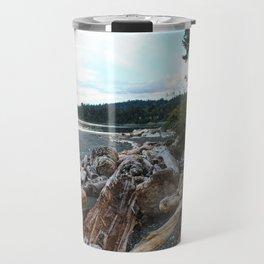 Driftwood on the shore Travel Mug