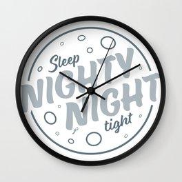 Nighty Night - Light Wall Clock