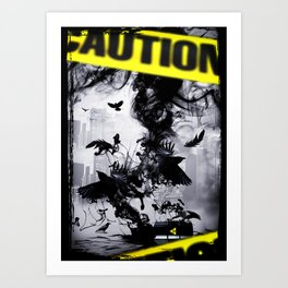 ORGANIC WASTE Art Print