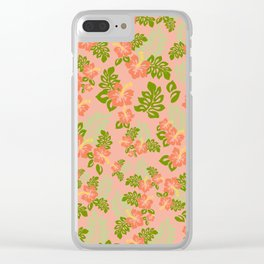 Hawaiian Pattern - Pink Clear iPhone Case