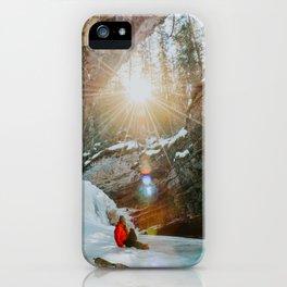 Enjoying the golden morning light iPhone Case