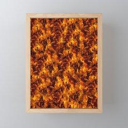Fire and Flames Pattern Framed Mini Art Print