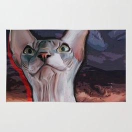 Evil cat. Rug