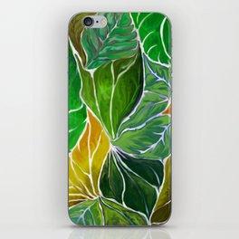 Dancing leaves iPhone Skin