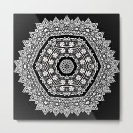 White , lace Metal Print