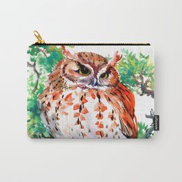 Your Best Friend Owl, woodland Owl art,, children illustration of OWL Carry-All Pouch
