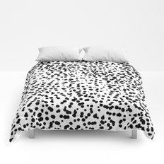 Retro Themed Dot Pattern Design Comforters