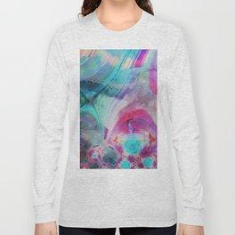 pastel geometrical asbtract Long Sleeve T-shirt