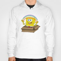 spongebob Hoodies featuring spongebob squarepants imagination by aceofspades81