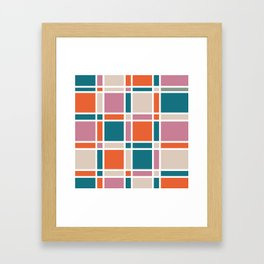 BH Plaid Framed Art Print