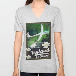 Iceland - go Gliding! Unisex V-Neck