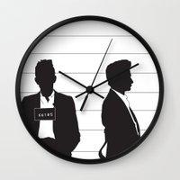 johnny cash Wall Clocks featuring Johnny Cash by Jarom Ward