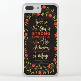 Proverbs 14:26 Clear iPhone Case