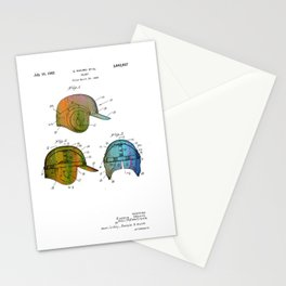 Patent drawing of a Baseball Helmet - Circa 1962 Stationery Cards