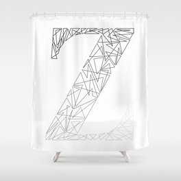 ''Geometry Collection'' - Minimal Letter Z Print Shower Curtain