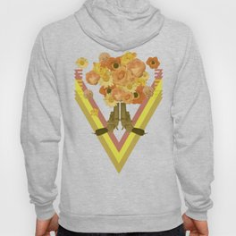 In my world, flowers come out of guns Hoody