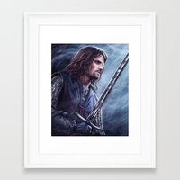 aragorn Framed Art Prints featuring Aragorn by Svenja Gosen