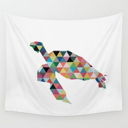 Colorful Geometric Turtle Wall Tapestry