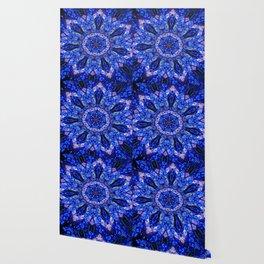 Blue Knight Starburst Mandala Wallpaper