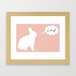 Fuck Off Original Rabbit Censored Framed Art Print