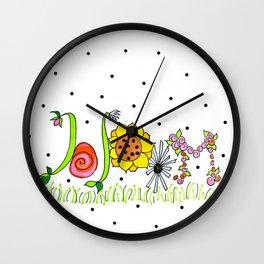 Mary's Bloom Wall Clock