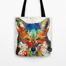 Colorful Fox Art - Foxi - By Sharon Cummings Tote Bag