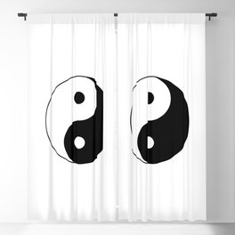 Black and White Yian Yang Blackout Curtain