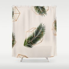 Palm + Geometry #society6 Decor #buyart Shower Curtain