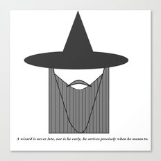 Gandalf Minimalist Canvas Print