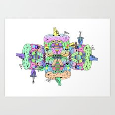 in yo' mind Art Print