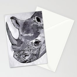 Rhino - Animal Series in Ink Stationery Cards