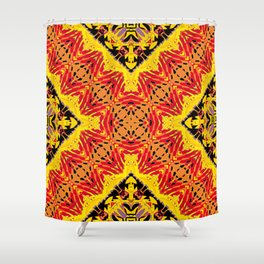 ethnic cross red Shower Curtain