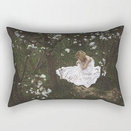 Girl in forest Rectangular Pillow