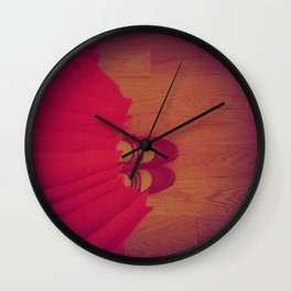 The Girl in the Red Dress Wall Clock