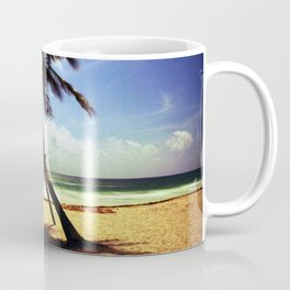 Palm on the beach. Coffee Mug