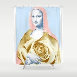 leonardo da vinci mona lisa parody hommage Shower Curtain
